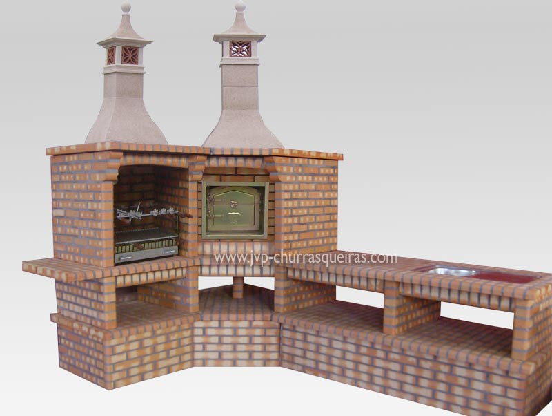 how to build a brick bbq chimney