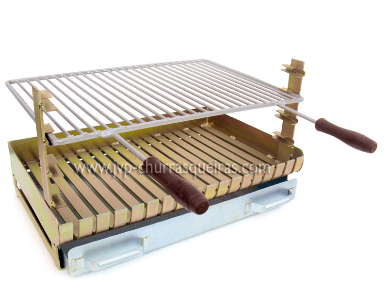 Galvanized iron grill, Grill in zincked iron with grid