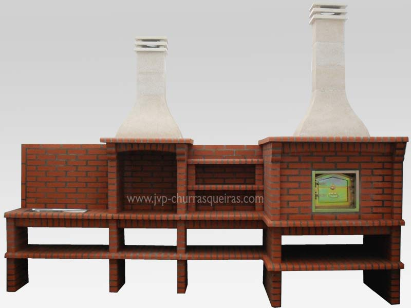 BBQ Grill 110, BBQ with Oven, Manufacture Garden Brick Barbecue Grill, BBQ in refractory bricks, Brick barbecues Grill, BBQ, churrasqueiras, Outdoor Barbecue Grill, charcoal barbecue grill, outdoor barbecue grills, charcoal grill, Barbecue and Pizza Oven, Barbecue Grill, Churrasqueiras, bbq with bricks
