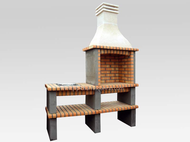 BBQ Grill 121, Manufacture Garden Brick Barbecue Grill - BBQ in refractory bricks, Brick barbecues Grill, BBQ nice price, Cheap BBQ, churrasqueiras, Outdoor Barbecue Grill, charcoal barbecue grill, outdoor barbecue grills, charcoal grill, Barbecue and Pizza Oven, Barbecue Grill, Churrasqueiras, bbq with bricks