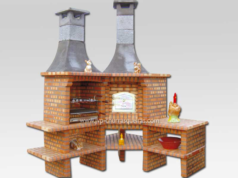 Brick Barbecue 26, Manufacture Garden Brick Barbecue Grill - BBQ in refractory bricks, Brick barbecues Grill, BBQ nice price, Cheap BBQ