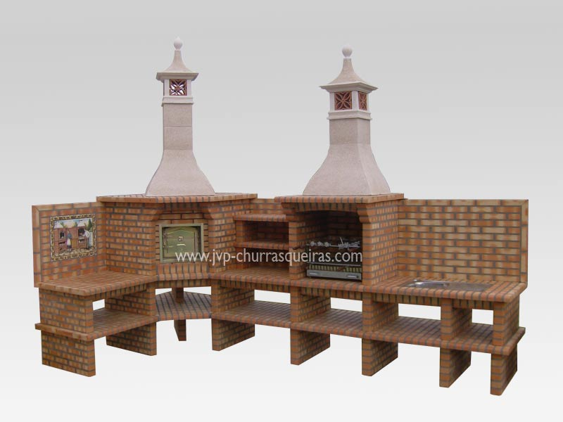 Brick Barbecue 76, BBQ with Oven, Manufacture Garden Brick Barbecue Grill, BBQ in refractory bricks, Brick barbecues Grill, BBQ, churrasqueiras, Outdoor Barbecue Grill, charcoal barbecue grill, outdoor barbecue grills, charcoal grill, Barbecue and Pizza Oven, Barbecue Grill, Churrasqueiras, bbq with bricks
