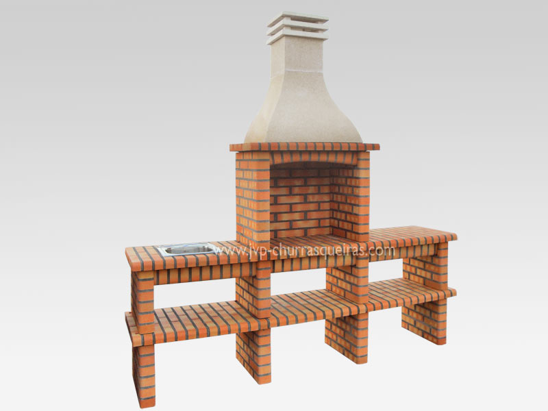 BBQ Grill 215, Manufacture Barbecue Grill, BBQ in refractory bricks, Brick barbecues Grill, Outdoor Barbecue Grill, Brick barbecue grill, Garden barbecue grills, charcoal grill, Barbecue Grill, Churrasqueiras, bbq with bricks