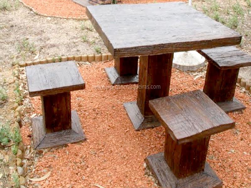 Mesas, imitação de madeira, imitar madeira, Mesas de Jardim, Mesa 102, Mesas, merendas, bancos, Mesas de Jardim em Tijolo, mesas para parques de merendas, mesas em tijolos, mesas cimento, betão, pedra, mesa quadrada